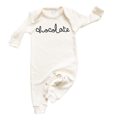 Buy the Chocolate Playsuit in Natural by ORGANIC ZOO from Me and Buddy