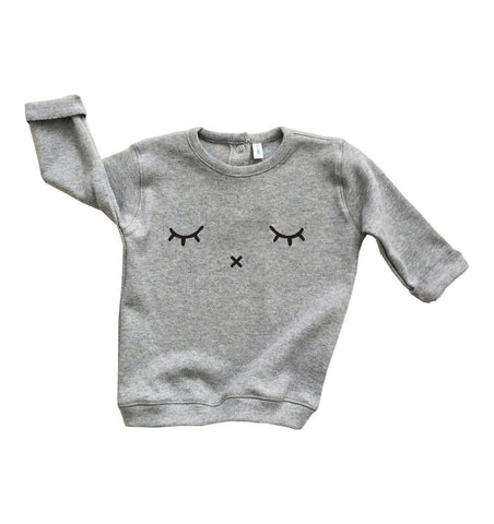 Buy the Sleepy Sweatshirt in Grey by ORGANIC ZOO from Me and Buddy
