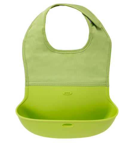 Buy the OXO Tot Roll Up Bib in Green by OXO TOT from Me and Buddy