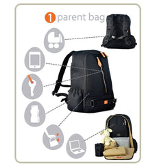 Buy the PacaPod Picos Pack Changing Bag in Black by PACAPOD from Me and Buddy