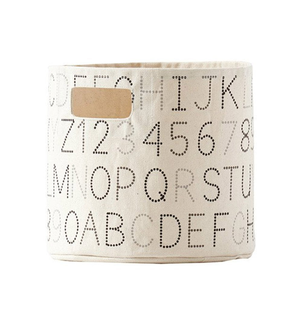Buy the Monochrome Alphabet Medium Canvas Storage Container by PEHR from Me and Buddy