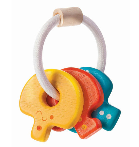 Buy the Plan Toys Baby Key Rattle in Brights by PLAN TOYS from Me and Buddy