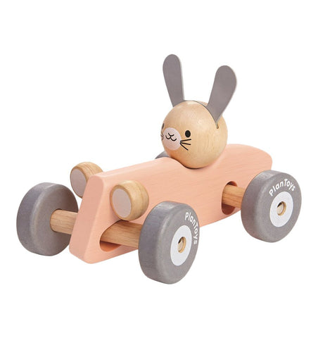 Buy the Plan Toys Bunny Racing Car by PLAN TOYS from Me and Buddy