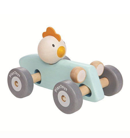 Buy the Plan Toys Chicken Racing Car by PLAN TOYS from Me and Buddy