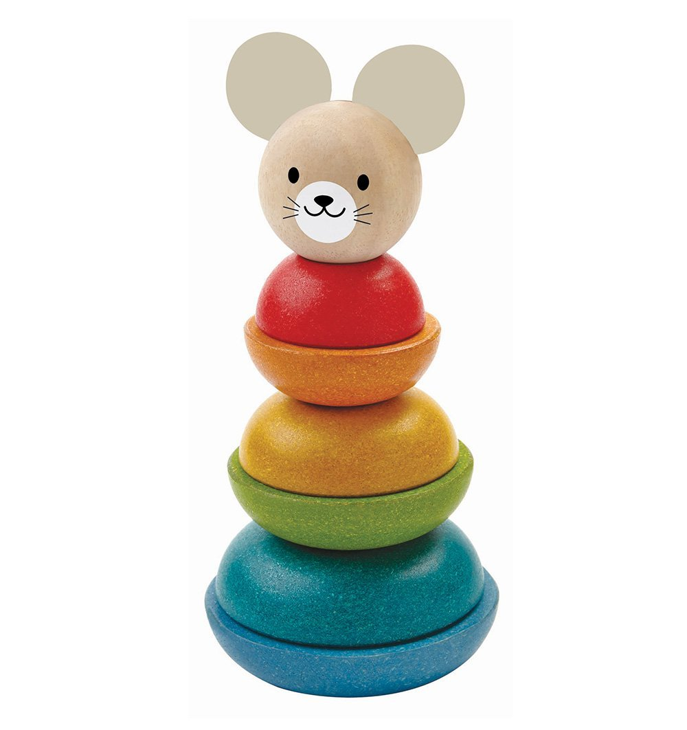 Buy the Plan Toys Mouse Stacking Ring by PLAN TOYS from Me and Buddy