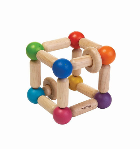Buy the Plan Toys Square Clutching Toy in Brights by PLAN TOYS from Me and Buddy