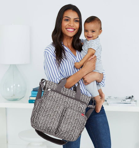Buy the Skip Hop Duo Changing Bag in Grey Feather by SKIP HOP from Me and Buddy