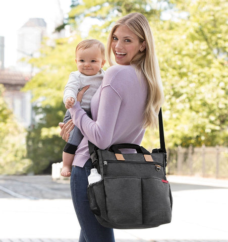 Buy the Skip Hop Duo Changing Bag in Soft Slate Dark Grey by SKIP HOP from Me and Buddy