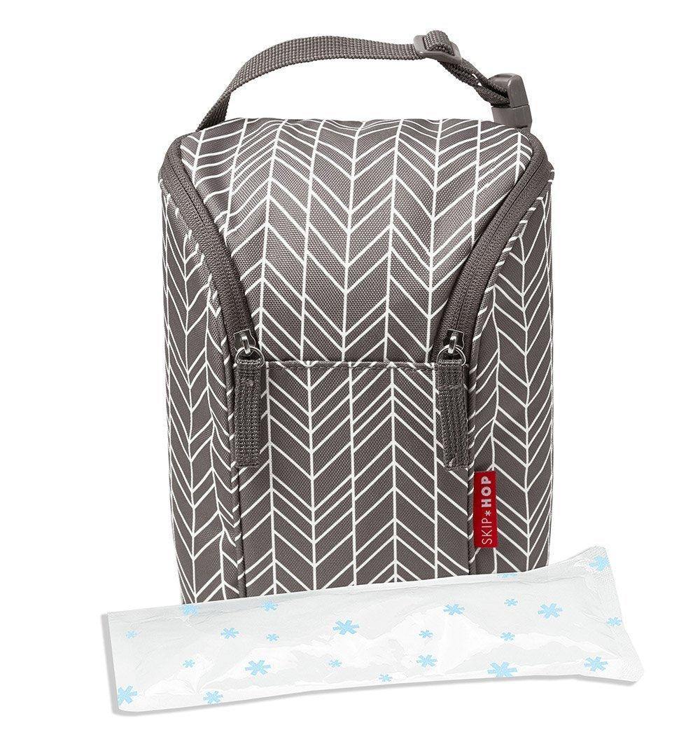 Buy the Skip Hop Insulated Bottle Bag in Grey Feather by SKIP HOP from Me and Buddy