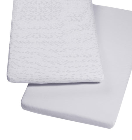 Buy the Snüz Crib Sheets 2-Pack in Wave Mono by SNUZ from Me and Buddy