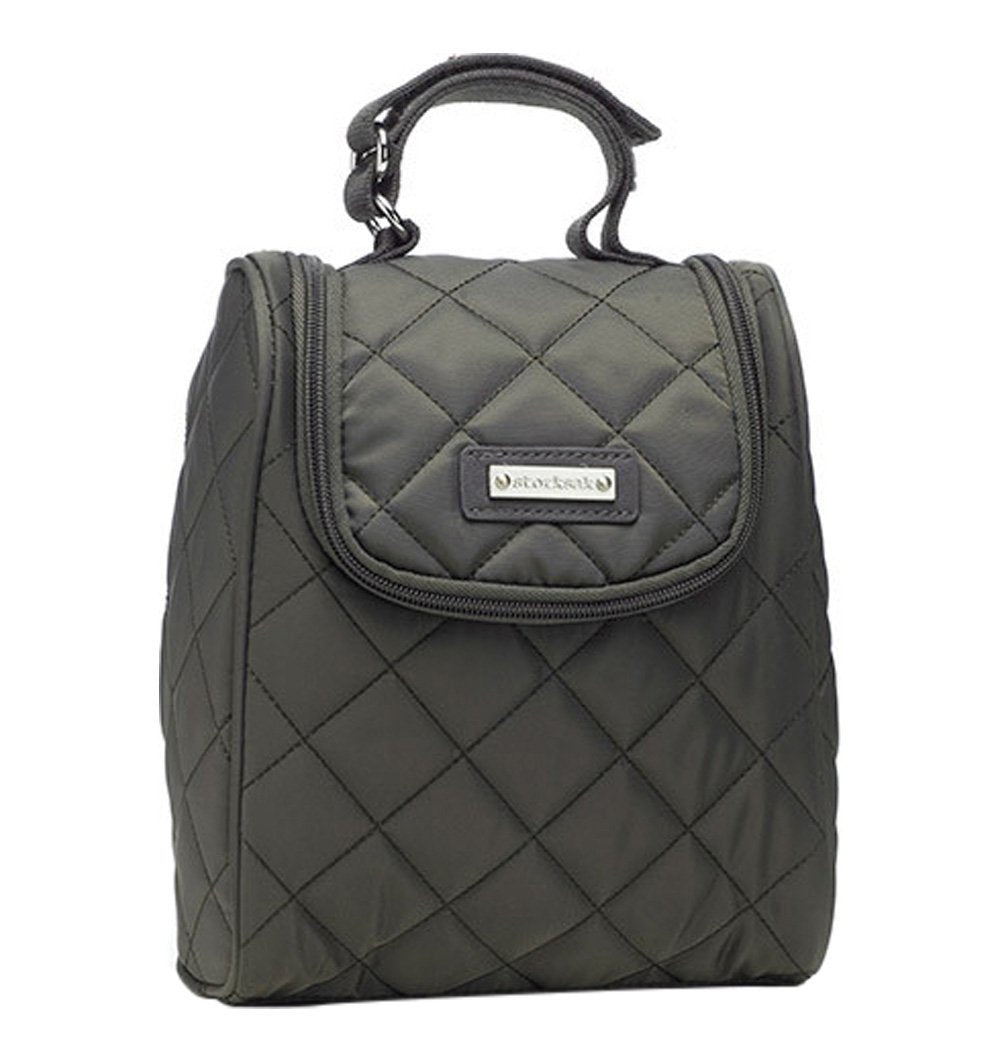 Buy the Storksak Fab Bag in Quilted Charcoal by STORKSAK from Me and Buddy