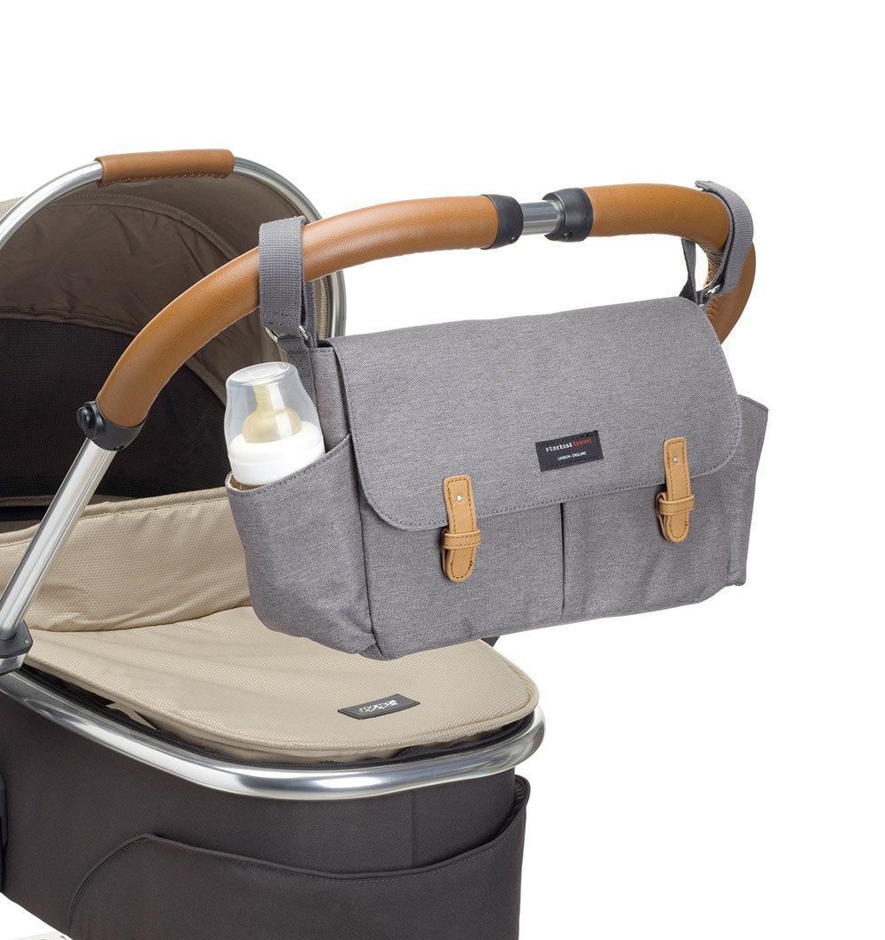 Buy the Storksak Travel Stroller Organiser in Grey by STORKSAK from Me and Buddy
