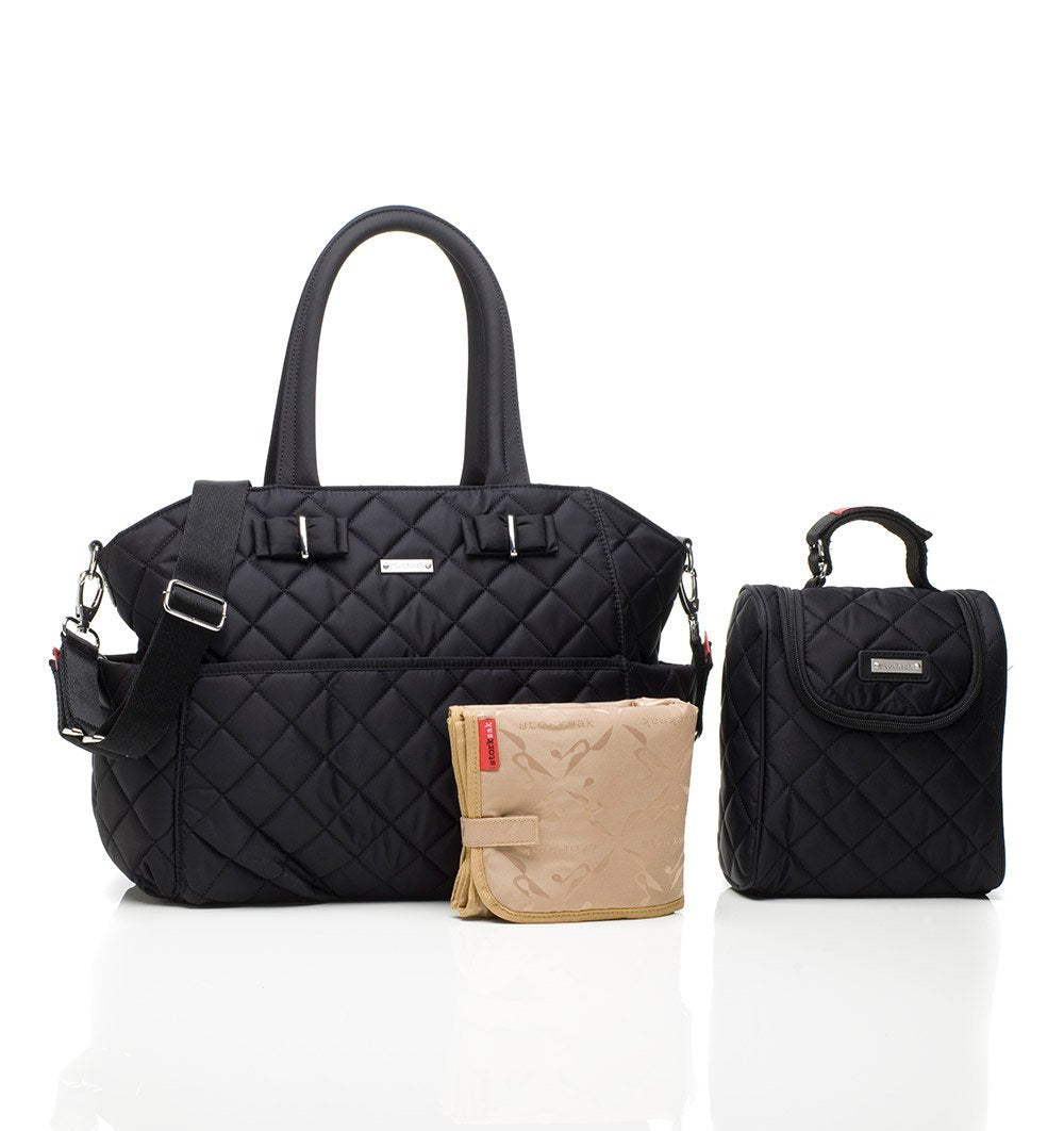 Buy the Storksak Bobby Changing Bag in Black by STORKSAK from Me and Buddy