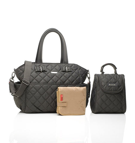 Buy the Storksak Bobby Changing Bag in Charcoal by STORKSAK from Me and Buddy