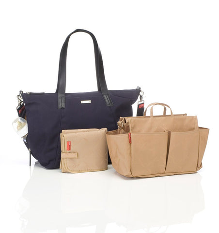 Buy the Storksak Noa Luxe Changing Bag in Midnight Blue by STORKSAK from Me and Buddy