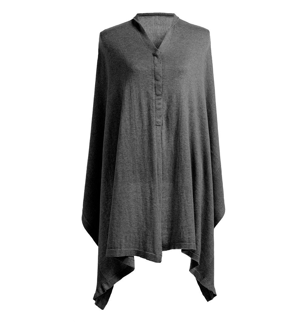Buy the Storksak Nursing Scarf Shawl in Organic Cotton - Charcoal Grey by STORKSAK from Me and Buddy