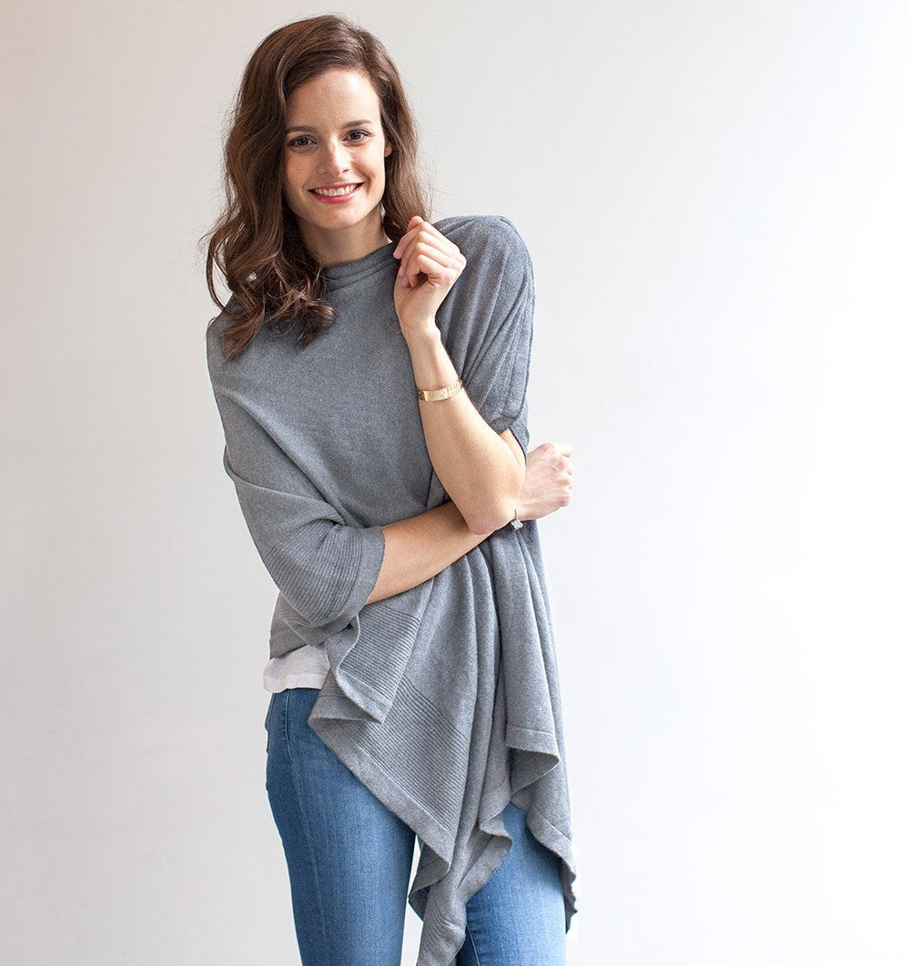 Buy the Storksak Nursing Scarf Shawl in Organic Cotton - Light Grey Marl by STORKSAK from Me and Buddy