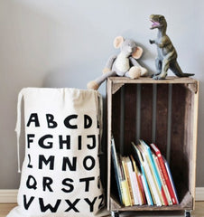 Buy the Alphabet Large Fabric Storage Bag by TELLKIDDO from Me and Buddy