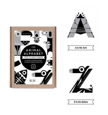 Buy the Monochrome Alphabet Flash Cards by THE JAM TART from Me and Buddy