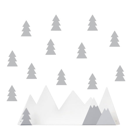 Buy the Mountain Shelf with Tree Stickers in Light Grey by TRESXICS from Me and Buddy