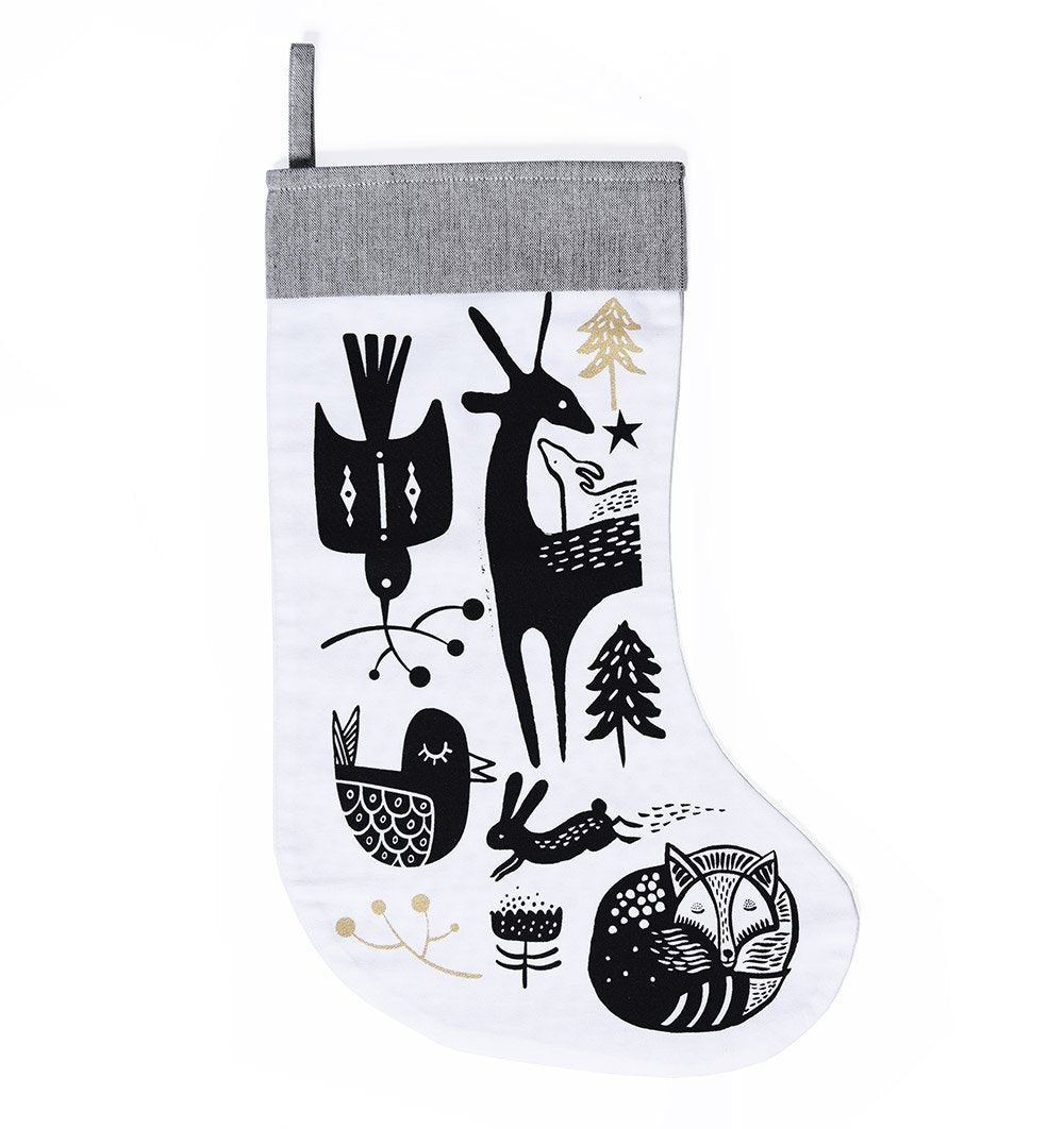buy the wee gallery winter animals christmas stocking by wee gallery from me and buddy - Where To Buy Christmas Stockings