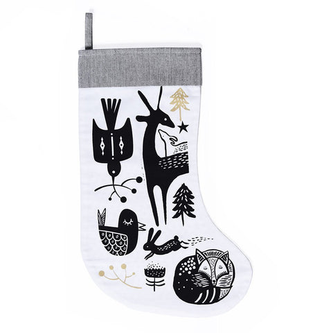 Buy the Wee Gallery Winter Animals Christmas Stocking by WEE GALLERY from Me and Buddy