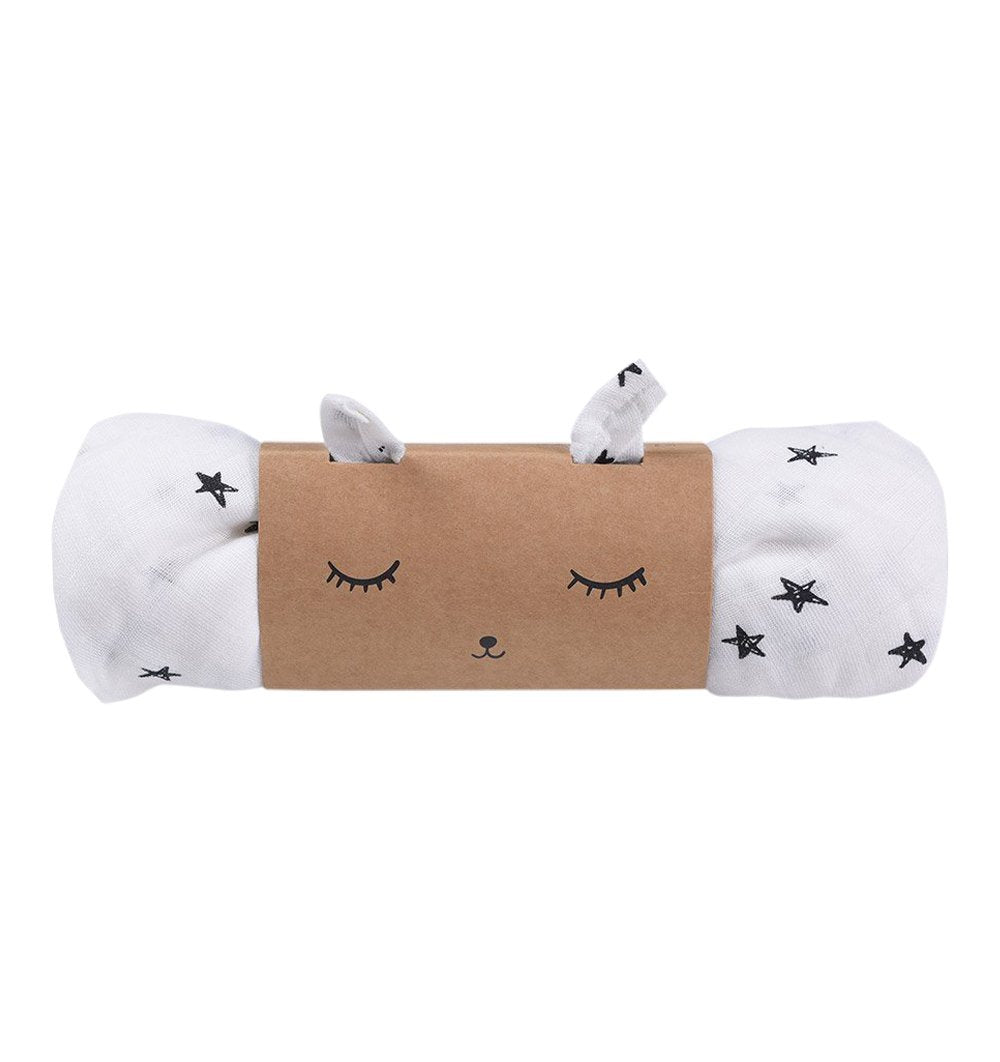 Buy the Wee Gallery Swaddle in Stars Design by WEE GALLERY from Me and Buddy