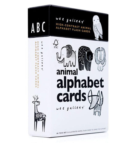 Buy the Wee Gallery Animal Alphabet Art Cards by WEE GALLERY from Me and Buddy