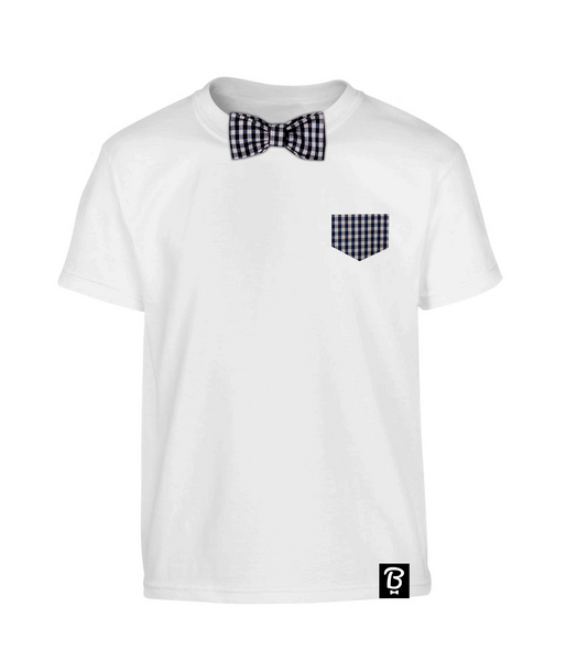 Kids Heritage Check Bowtee T-Shirt