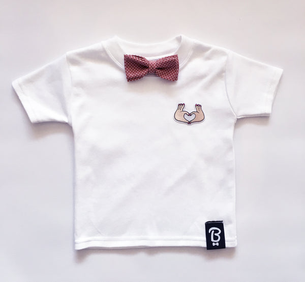 Baby + Toddler Love Hands Bow Tie Bowtee T-Shirt
