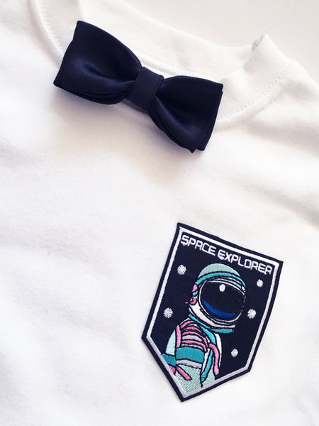 Baby + Toddler Space Explorer Bow Tie Bowtee T-Shirt