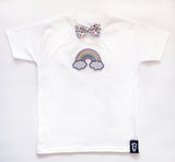 Baby + Toddler Sweet Rainbow Bow Tie Bowtee T-Shirt