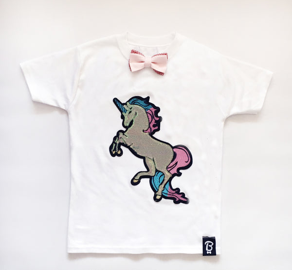 Baby + Toddler Sparkle Like A Unicorn Bow Tie Bowtee T-Shirt