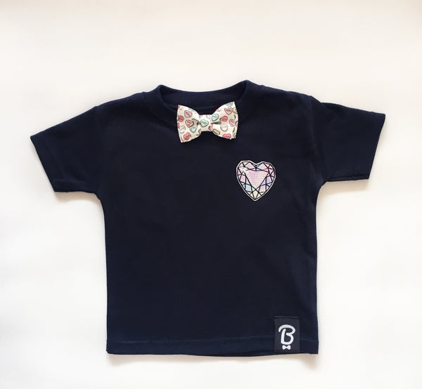 Baby + Toddler Sweetheart Bow Tie Bowtee T-Shirt