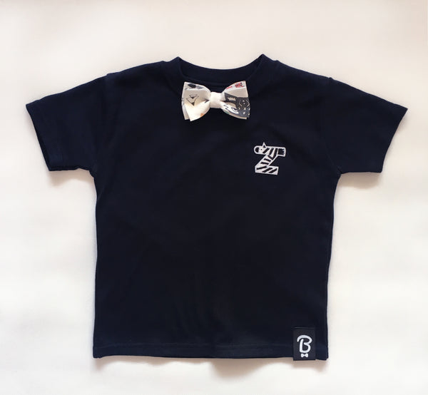 Baby + Toddler Z is For Zebra Bow Tie Bowtee T-Shirt
