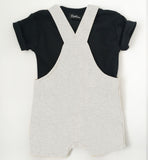 Baby + Toddler Bow Tie Bowtee T-Shirt & Dungaree Romper Set