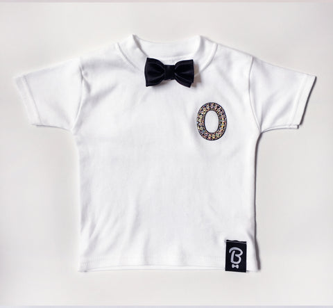Kids Personalised Bling Ring Bow Tie Bowtee T-Shirt