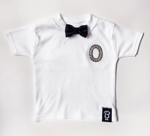 Baby + Toddler Personalised Bling Ring Bow Tie Bowtee T-Shirt