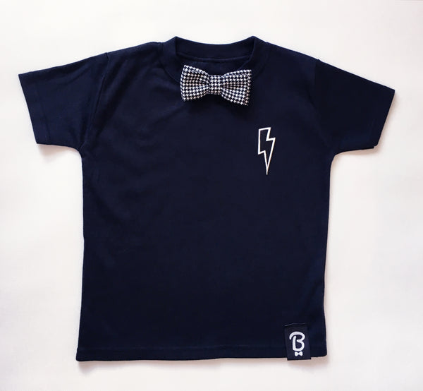 Baby + Toddler Thunderbolts & Lightning Bow Tie Bowtee T-Shirt
