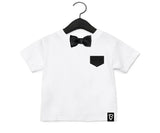 Baby + Toddler Black Satin Bow Tie Bowtee T-Shirt