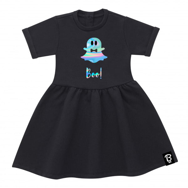 Spooky Unicorn Ghoul Halloween Bowtees Skater Dress