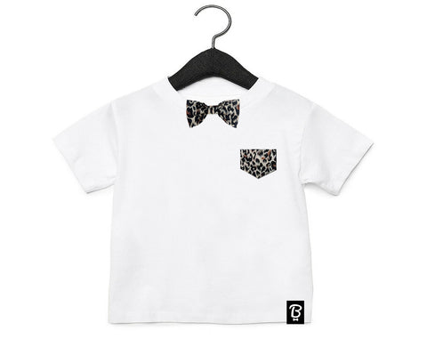 Baby + Toddler Leopard Bow Tie Bowtee T-Shirt