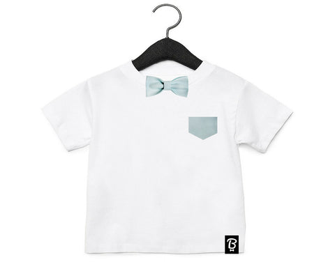 Baby + Toddler Mint Bow Tie Bowtee T-Shirt