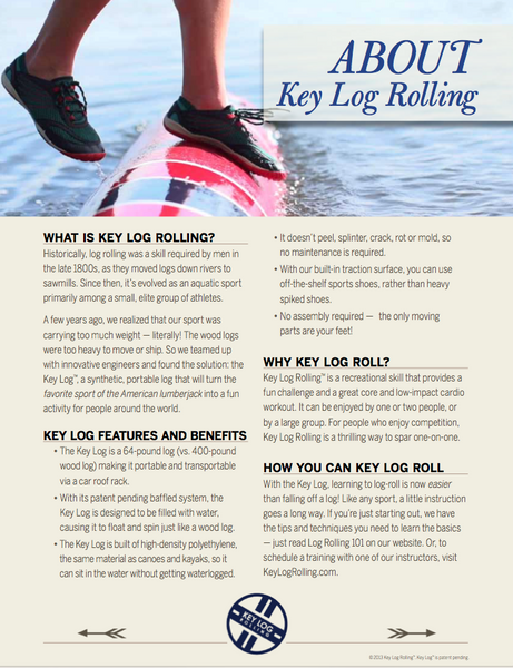 Key Log Rolling Fact Sheet