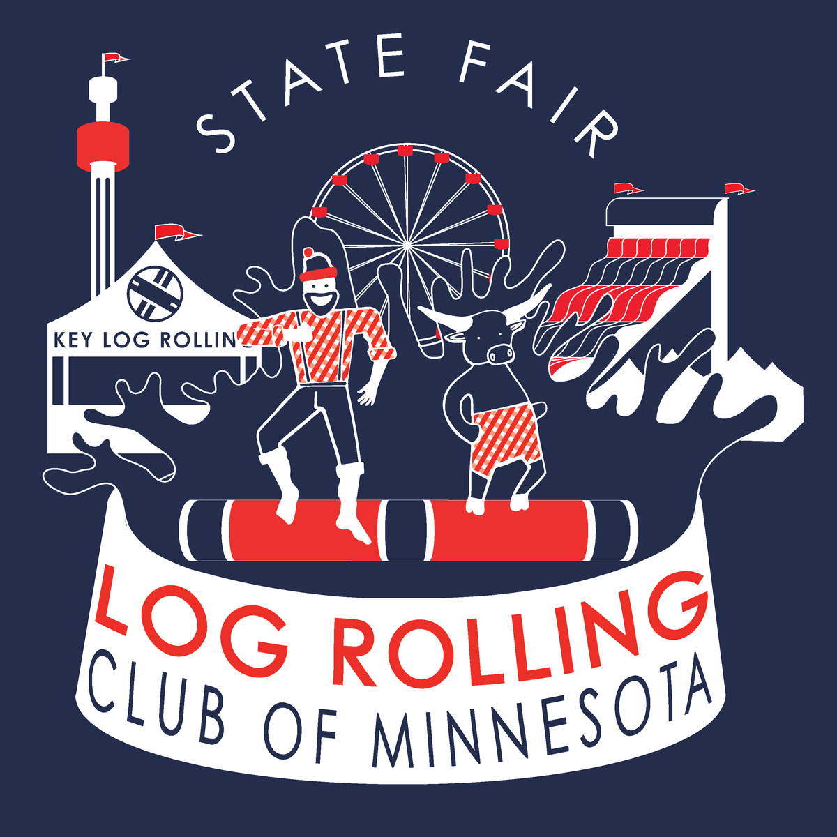 MN State Fair Log Rolling Club - Key Log Rolling