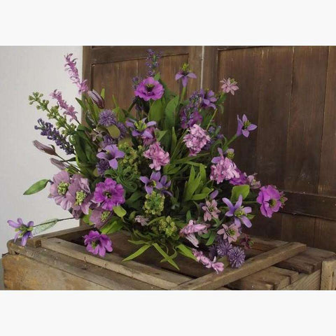 Large Bouquet of Magenta Meadow Flowers