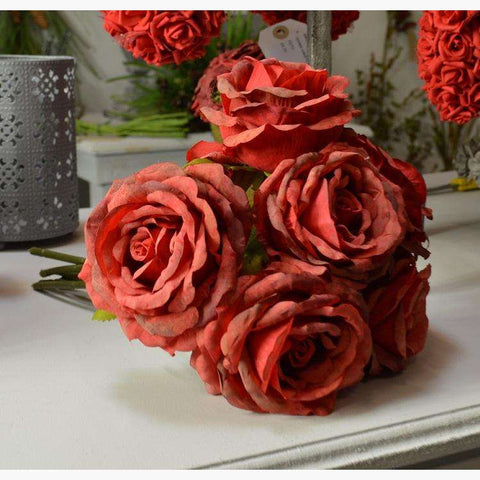 Rose Posy x 6 Roses - Dark Red
