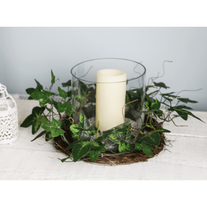 Wild Ivy, Vine and Moss Natural Base Centrepiece