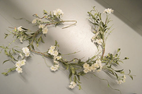 Wild Vine and White Cherry Blossom Garland