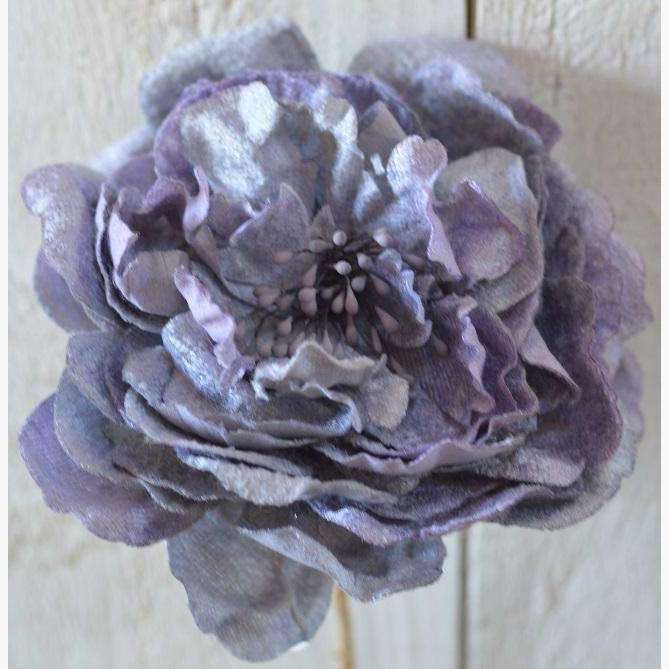 Luxury Large Velvet Peony in Vintage Purple